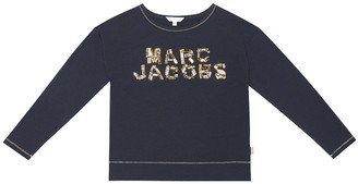 Little Marc Jacobs Embellished stretch-jersey top