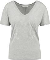 Halston Metallic printed modal-jersey T-shirt
