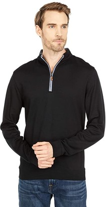 johnnie-O Sully 1/4 Zip Pullover (Black) Men's Clothing