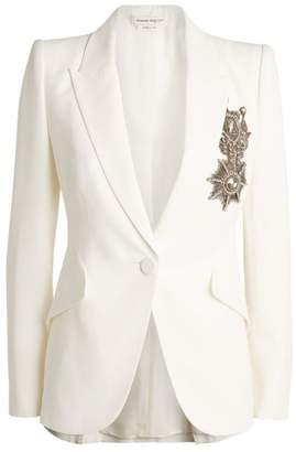 Alexander McQueen Embroidered Emblem Jacket