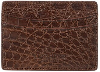 Lucchese Croco Card Case (Sienna) Coin Purse