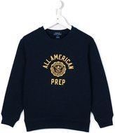Ralph Lauren all American prep print sweatshirt - kids - Cotton/Polyester - 2 yrs