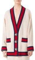 Gucci Long Sleeve Tweed Cardigan