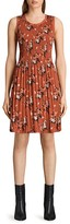 AllSaints Floral Crinkle Pleat Dress