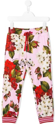 Dolce & Gabbana Floral Print Track Pants