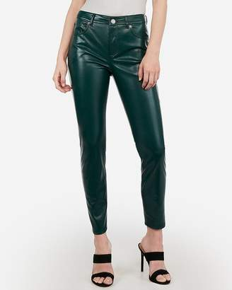 Express High Waisted Vegan Leather Ankle Leggings