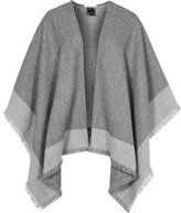 Reiss Valerie - Knitted Poncho in Grey, Womens