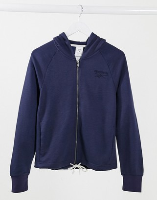Reebok training hoodie in purple