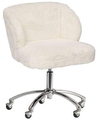 Pottery Barn Teen Sherpa Wingback Desk Chair, Ivory