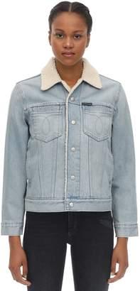 Calvin Klein Jeans SHERPA COTTON DENIM TRUCKER JACKET