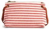 Sole Society Jax Stripe Fabric Crossbody Bag - Red