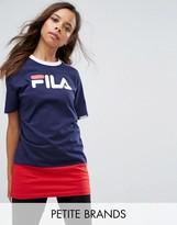 Fila Petite Color Block Logo Longline T-Shirt