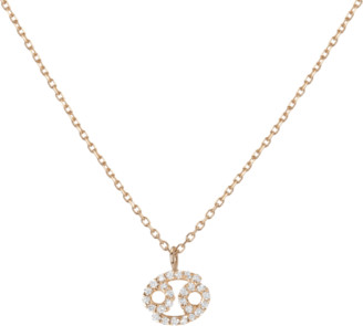 AUrate New York Pave Diamond Zodiac Necklace