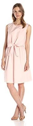 Lark & Ro Amazon Brand Women's Sleeveless Bow-Front Dress