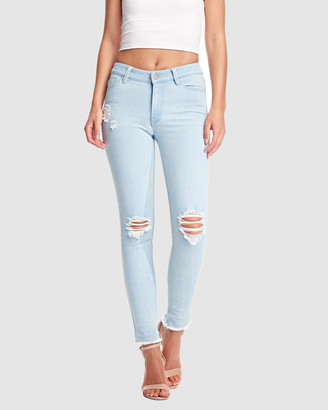 RES Denim Women's Blue Jeans - Kitty Skinny Ankle Jean - Size One Size, 26 at The Iconic