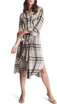 Thumbnail for your product : Reiss Lynn Plaid Long Sleeve Shirtdress