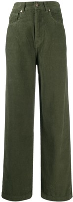 Essentiel Antwerp Whipped corduroy high-waisted trousers