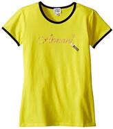 Armani Junior T-Shirt with Armani Lipstick Writing (Big Kids)