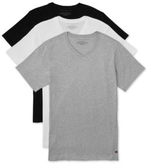 Tommy Hilfiger Men's 3 Pack Slim-Fit V-Neck Cotton Undershirt
