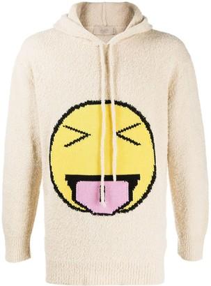 Maison Flaneur Emoji Embroidered Hoodie