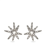 Oscar de la Renta Fireworks crystal-embellished clip-on earrings