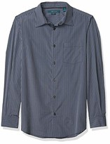 Perry Ellis Men's Long Sleeve Sateen Stripe Shirt