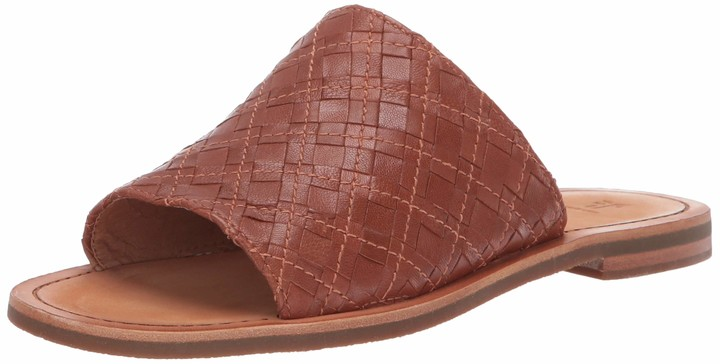 Fergalicious Women/'s Silence Slip On Slide Flat Sandals Cream Size 5 M US