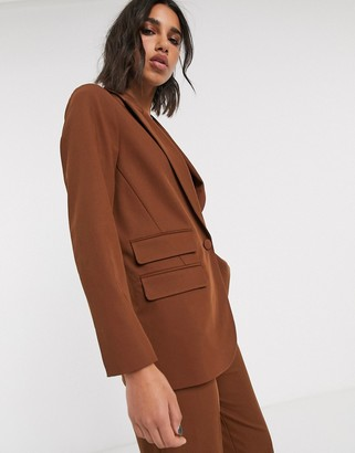 Topshop blazer co-ord in chocolate