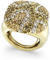 ABS by Allen Schwartz Gold-Tone Multicolor Pavé Statement Ring