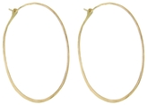 "Melissa Joy Manning Extra Large Yellow Gold Hoop Earrings - 1.75"" in Diameter"
