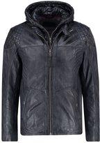 Tom Tailor Leather Jacket Black/grey