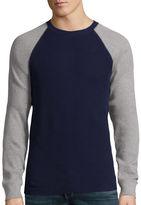 ST. JOHN'S BAY St. John's Bay Long-Sleeve Thermal Baseball Shirt