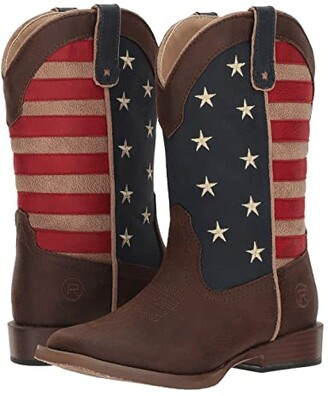 Roper American Patriot (Toddler/Little Kid) (Faux Leather Vamp Stars & Stripes Shaft) Cowboy Boots