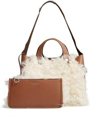 Tory Burch Rory Genuine Shearling & Leather Satchel