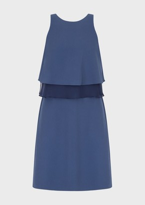 Emporio Armani Crepe Cady, Flounced Dress