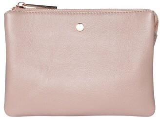 Mocha Stella Double Leather Crossbody Bag - Taupe