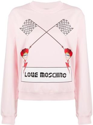 Love Moschino logo knit jumper