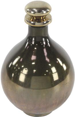 Uma Enterprises Tear-Shaped Gold Glass & Aluminum Bottle