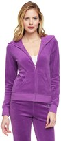 Juicy Couture Outlet - LOGO VELOUR CRYSTAL CROWN ORIGINAL JACKET