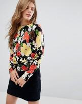 YMC Floral Print Merino Wool Sweater