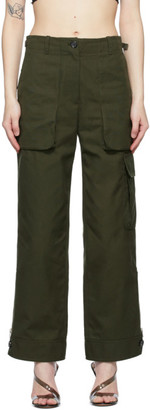 Helmut Lang Khaki Patch Pocket Trousers
