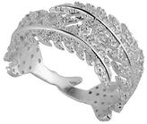 Lucky Brand Cubic Zirconia and Sterling Silver Pave Leaf Ring