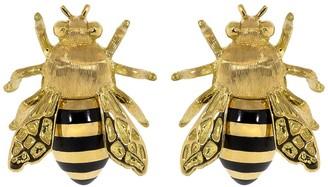 Verdura Honeybee Stud Earrings