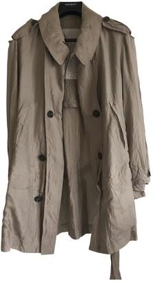 Saint Laurent Grey Silk Trench Coat for Women