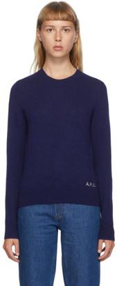 A.P.C. Blue Wool Esme Sweater