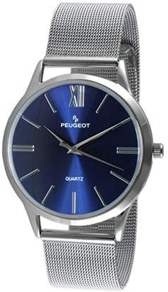 Peugeot Men's Stainless Steel Slim Case Watch with Mesh Band - Dial