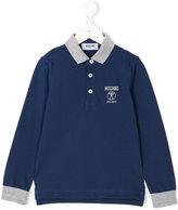 Moschino Kids - long sleeve polo shirt - kids - Cotton - 4 yrs