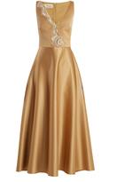 Temperley London Waterlily crystal-embellished satin dress