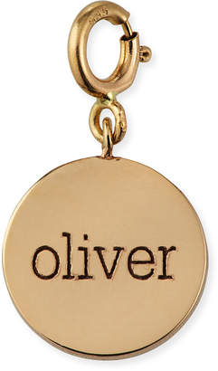 Chicco Zoe Personalized 14k Small 1-Word Disc Pendant