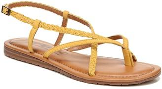 Zodiac Strappy Leather Thongs - Yovana